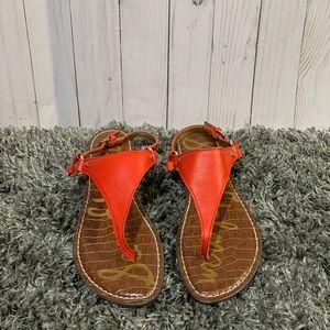 Sam Edelman red sandals size 6
